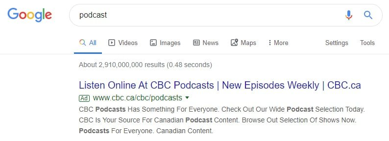 Targeting relevant intent based searches on Google ads could be a good PPC strategy for your podcast